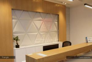Гипсовые 3d панели Alivio серии Triangle для  отделки стен, 3д панель, 3d wallpanel, 3d wall производитель цена купить Украина  alivio.com.ua